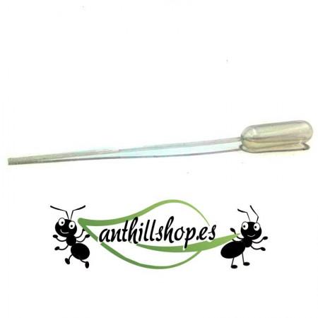 pipeta de plástico 1 ml  para humedecer los hormigueros y dar de comer a las hormigas