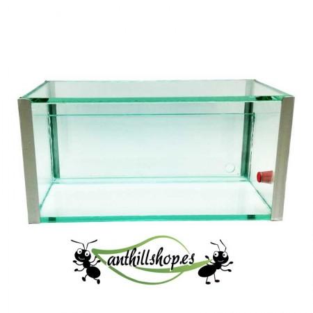 caja de 20x10x10 con sándwich de un 1cm para las galerías naturales de las hormigas