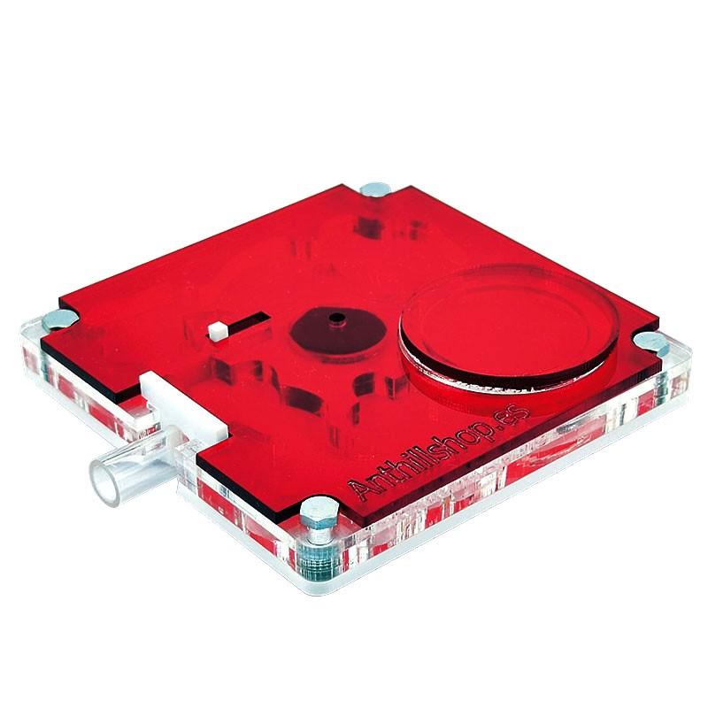 Tapa Roja Translucida 10x10 Cuadrada Acrílica protector para las hormigas