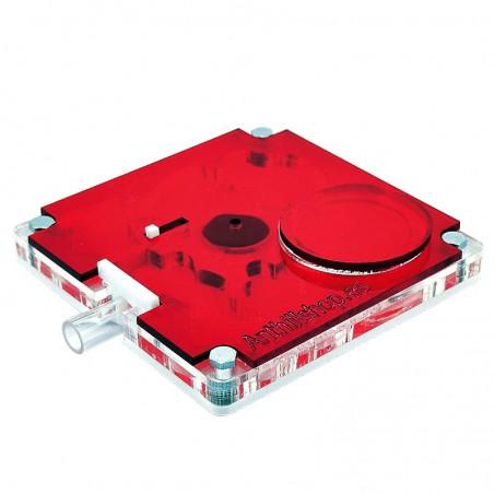 Tapa Roja Protectora 10x10 Cuadrada Acrílica
