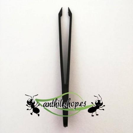 pinzas de plástico de precisión color negro para el manejo de las hormigas