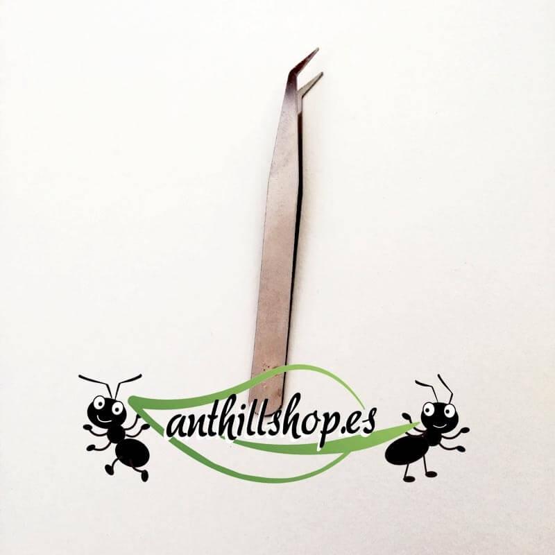 pinzas de punta curvada de precisión para la limpieza de hormigueros