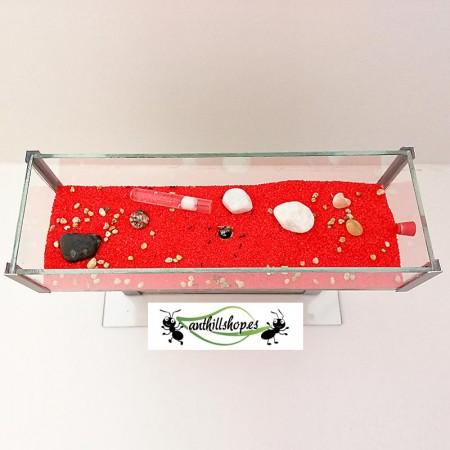 caja de forrajeo con decoración